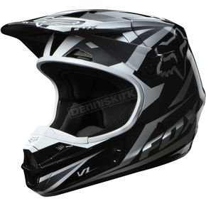 Fox Black V1 Race Helmet - 07129-001-L