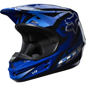 Fox Blue V1 Race Helmet - 07129-002