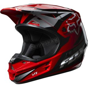 Fox Red V1 Race Helmet - 07129-003-L