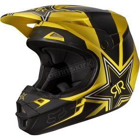 Fox Black/Yellow V1 Rockstar Helmet - 07138-019-L