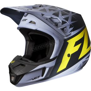 Fox Gray/Yellow V2 Given Matte Helmet - 08479-086-L