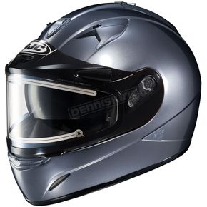 HJC Metallic Anthracite IS-16SN Helmet w/Electric Shield - 081-566
