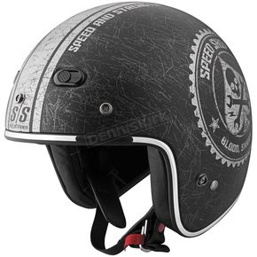 Speed and Strength Black/Silver Speed Shop SS600 Helmet - 87-6791