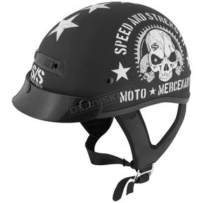 Speed and Strength Black Moto Mercenary SS300 Helmet - 87-7174