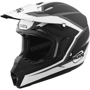 MSR Racing Youth Black/White Assault Helmet - 359407