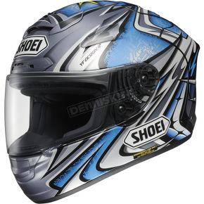 Shoei Helmets Silver/Blue X-Twelve Daijiro Memorial TC-6 Helmet - 0112-2306-04