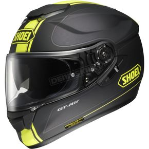 Shoei Helmets Black/Hi-Viz Yellow TC-3 GT-Air Wanderer Helmet - 0118-1103-03