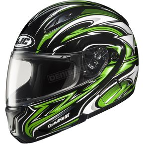 HJC CL-Max II BT Black/Green/White MC-4 Atomic Modular Helmet - 0845-1204-04