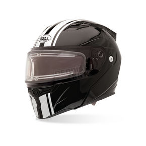 Bell Helmets Black/White Revolver EVO Rally Snow Helmet with Electric Shield - 2035591