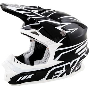 FXR Racing Black and White Blade Helmet - 14410