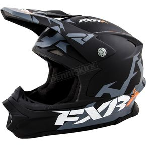 FXR Racing Black/Matte Charcoal Blade Helmet - 15405