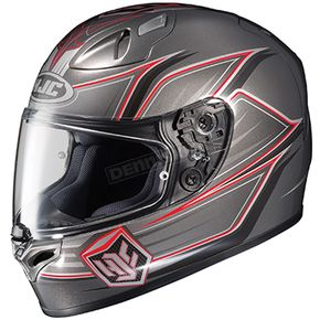 HJC Grey/Red FG-17 Banshee MC-5 Helmet  - 0817-1505-07