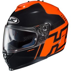 HJC Orange/Black IS-17 Genesis MC-6 Helmet  - 0818-1106-08