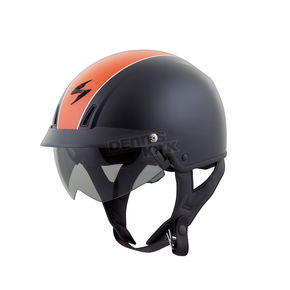 Scorpion Matte Black/Orange EXO-C110 Split Helmet  - C11-1542
