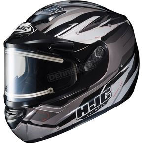 HJC Silver/Black Multi CS-R2SN MC-5 Sawtooth Helmet with Framed Electric Shield - 55-28651