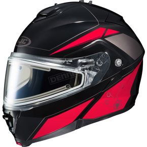 HJC Black/Red/Silver IS-MAX 2 MC-1 Elemental Helmet w/Electric Shield - 58-23419