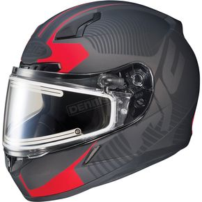HJC Matte Black/Red CL-17SN MC-1F Misson Helmet w/Frameless Electric Shield - 1251-1231-03