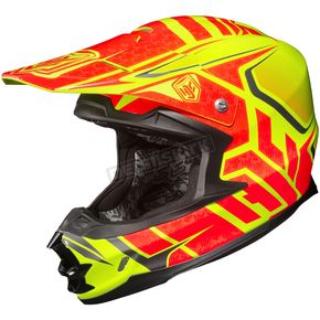 HJC Hi-Viz Neon Orange/Yellow/Black MC-3H FG-X Grand Duke Helmet - 58-6539