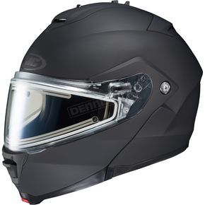 HJC Matte Black IS-Max 2 Snowmobile Helmet w/Electric Shield - 58-23589