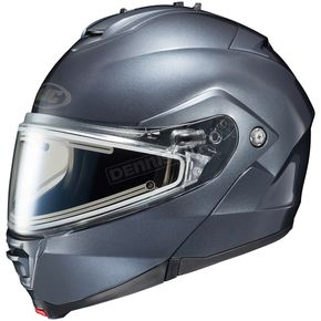 HJC Anthracite IS-Max 2 Snowmobile Helmet w/Electric Shield - 181-564