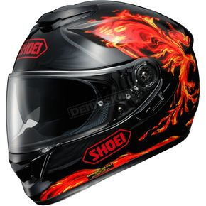 Shoei Helmets Black/Red/Yellow GT-Air Revive TC-1 Helmet - 0118-1501-04