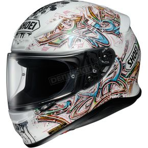 Shoei Helmets White/Blue/Yellow RF-1200 Graffiti TC-6 Helmet - 0109-2006-06