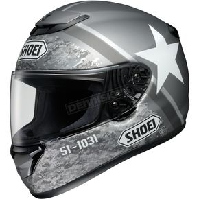 Shoei Helmets Gray/White Qwest Resolute TC-5 Helmet - 0115-1305-04