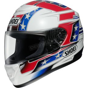 Shoei Helmets Red/White/Blue Qwest Banner TC-1 Helmet - 0115-1401-08