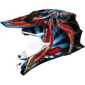 Shoei Helmets Black/Blue/Red VFX-W Grant 2 TC-1 Helmet - 0145-8801-04