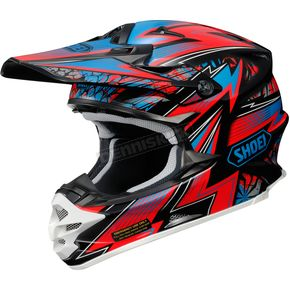 Shoei Helmets Red/Blue/Black VFX-W Maelstrom TC-1 Helmet - 0145-8501-08