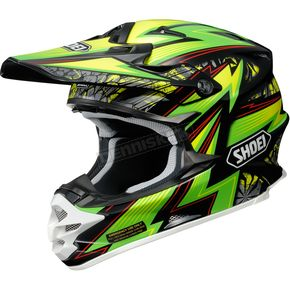 Shoei Helmets Green/Black/Yellow VFX-W Maelstrom TC-4 Helmet - 0145-8504-05