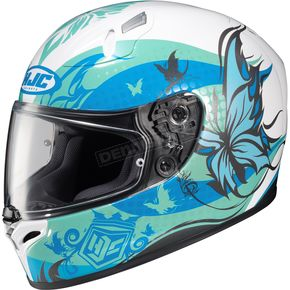 HJC Teal/Blue/White FG-17 MC-2 Flutura Helmet - 58-8626