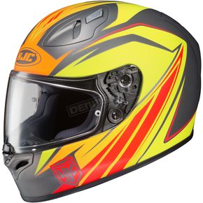 HJC Red/Yellow/Gray/Orange FG-17 MC-6F Thrust Helmet - 58-8766