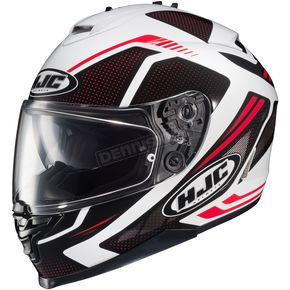 HJC Red/Black/White IS-17 MC-1 Spark Helmet - 58-4912