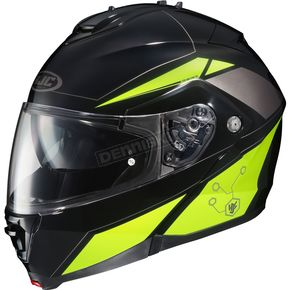 HJC Black/Hi Viz Yellow IS-MAX II MC-3H Elemental Modular Helmet - 58-3438