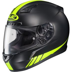 HJC Black/Hi Viz Yellow CL-17 MC-3HF Streamline Helmet - 838-832
