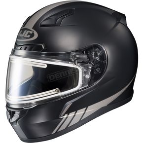 HJC Matte Black/Reflective CL-17SN Streamline MC-5RF Snowmobile Helmet w/Electric Shield - 57-29556