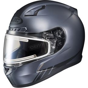 HJC Matte Anthracite/Black CL-17SN Streamline MC-5F Snowmobile Helmet w/Electric Shield - 57-29569
