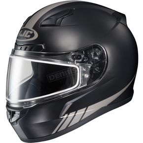 HJC Matte Black/Reflective CL-17SN Streamline MC-5RF Snowmobile Helmet w/Dual Lens Shield - 57-19551