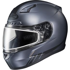HJC Matte Anthracite CL-17SN Streamline MC-5F Snowmobile Helmet w/Dual Lens Shield - 57-19569T