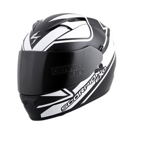 Scorpion White/Black EXO-T1200 Freeway Helmet - T12-3053