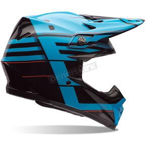 Bell Helmets Blue/Black/Red Blocked Moto-9 Carbon Flex Helmet - 7062859