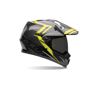 Bell Helmets Black/Hi-Vis Yellow MX-9 Adventure Barricade Helmet - 7061350