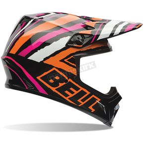 Bell Helmets Black/Orange/White/Pink Tagger Designs Scrub MX-9 Helmet - 7061150