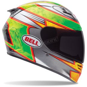 Bell Helmets Green/Silver/Yellow Star Carbon Fillmore Replica Helmet - 7061569