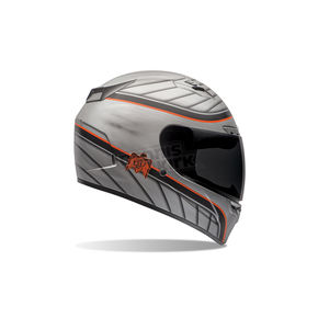 Bell Helmets Gray/Black/Orange Vortex RSD Dyna Helmet - 7061714