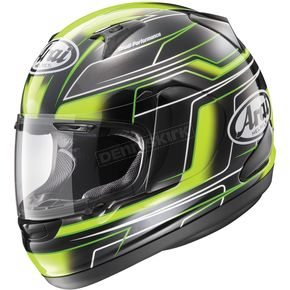 Arai Helmets Black/Green RX-Q Electric Helmet - 816252