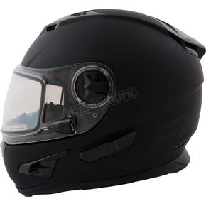 FXR Racing Matte Black Nitro Helmet w/Electric Shield - 15411.10019