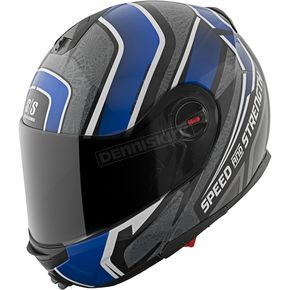 Speed and Strength Blue/Black/Grey Lock & Load SS1700 Helmet - 87-8760