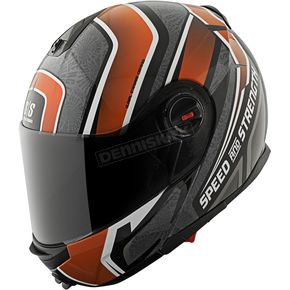Speed and Strength Orange/Black/Grey Lock & Load SS1700 Helmet - 87-8761